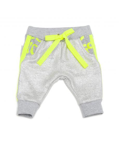 Pantalón So Twee Microbe Gris Detalles Verdes