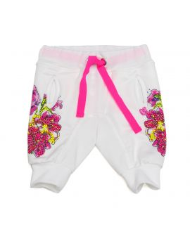 Pantalón So Twee Microbe Flores Blanco