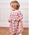 Vestido Bebé Niña TARTINE ET CHOCOLAT Cuadros Puntilla
