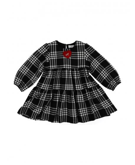 Vestido Niña MONNALISA Estampado Cuadros