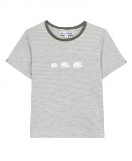 Camiseta Niño TARTINE ET CHOCOLAT Kaki Rayas