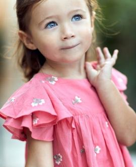 Vestido Bebé Niña TARTINE ET CHOCOLAT Flores Bordadas