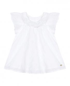 Vestido Bebé Niña TARTINE ET CHOCOLAT Blanco Bordado