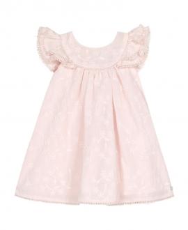 Vestido Bebé Niña TARTINE ET CHOCOLAT Fruncido Pompones