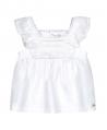 Camiseta Bebé Niña TARTINE ET CHOCOLAT Blanca Encaje