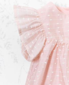 Vestido Bebé Niña TARTINE ET CHOCOLAT Nude Punto Suizo