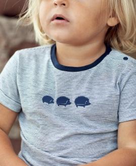 Camiseta Bebé Niño TARTINE ET CHOCOLAT Marino Rayas Erizos