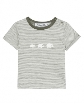Camiseta Bebé Niño TARTINE ET CHOCOLAT Kaki Rayas Erizos
