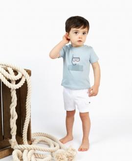 Short Bebé Niño TARTINE ET CHOCOLAT Sarga Blanco