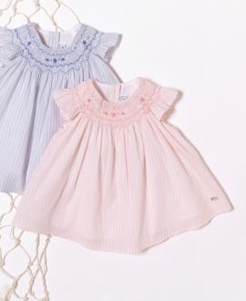 Vestido Bebé Niña TARTINE ET CHOCOLAT Rayas Rosa