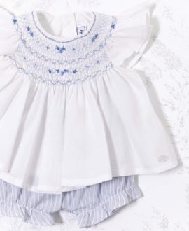 Conjunto Bebé Niña TARTINE ET CHOCOLAT Short y Blusa Blanco