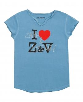 Camiseta Niña ZADIG & VOLTAIRE Azul Love Z&V