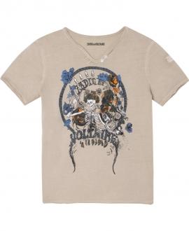 Camiseta Niño ZADIG & VOLTAIRE Arena Esqueleto