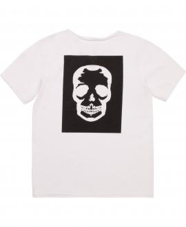 Camiseta Niño ZADIG & VOLTAIRE Blanca Calavera