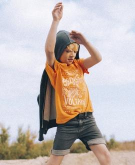 Camiseta Niño ZADIG & VOLTAIRE Naranja Concert