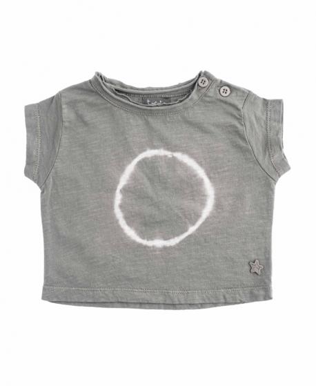 Camiseta Niños TOCOTO VINTAGE Marrón Efecto Tie Dye
