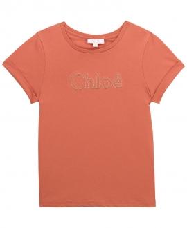 Camiseta Niña CHLOÉ Ladrillo