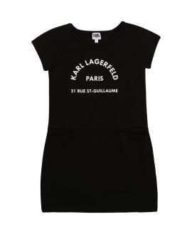 Vestido Niña KARL LAGERFELD Negro Paris