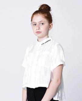 Camisa Niña KARL LAGERFELD Blanca Irregular