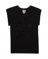 Camiseta Niña KARL LAGERFELD Negra Silueta