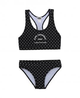 Bikini Niña KARL LAGERFELD Negro Cuadrados