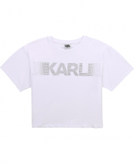Camiseta Niña KARL LAGERFELD Blanca