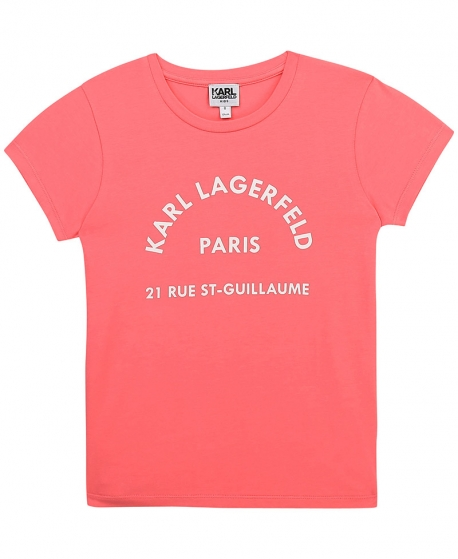 Camiseta Niña KARL LAGERFELD Frambuesa Paris