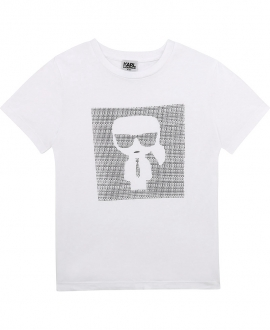 Camiseta Niño KARL LAGERFELD Blanca
