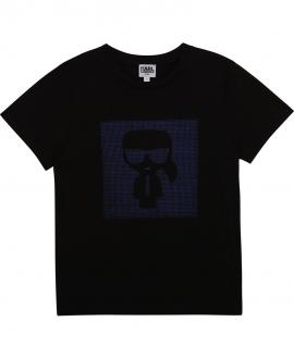 Camiseta Niño KARL LAGERFELD Negra