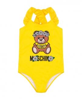 Bañador Niña MOSCHINO Daisy Teddy Bear Amarillo