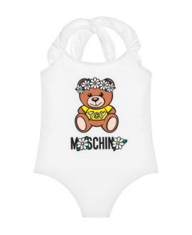 Bañador Niña MOSCHINO Daisy Teddy Bear Blanco