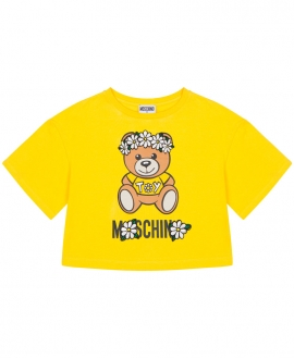 Camiseta Niña MOSCHINO Daisy Teddy Bear Amarilla
