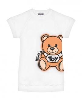 Vestido Niña MOSCHINO Felpa Teddy Bear Blanco