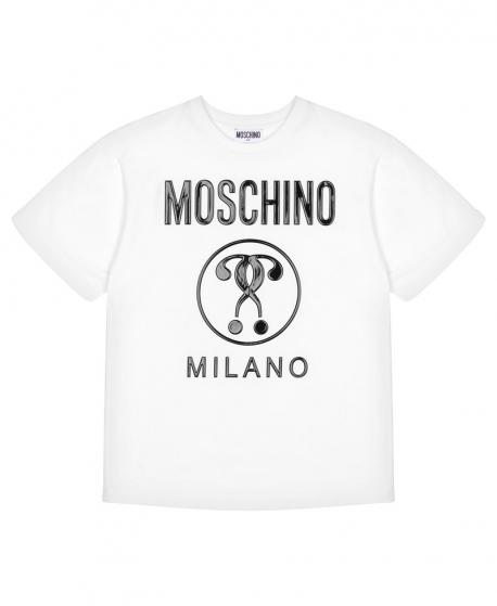 Camiseta MOSCHINO Blanca Interrogantes