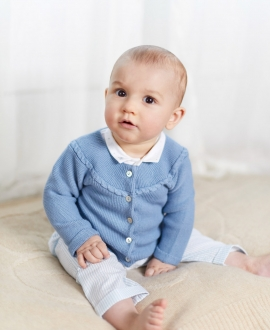 Cárdigan Bebé TARTINE ET CHOCOLAT Punto Ochos Azul