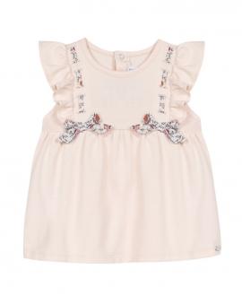 Camiseta Bebé Niña TARTINE ET CHOCOLAT Rosa Detalles Liberty