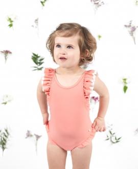 Bañador Bebé Niña TARTINE ET CHOCOLAT Nude Volantes