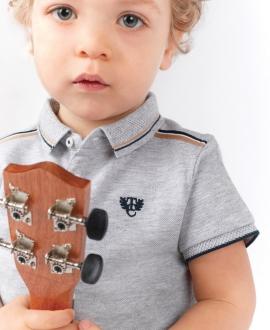 Polo Bebé Niño TARTINE ET CHOCOLAT Piqué Gris