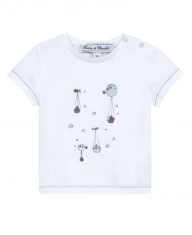 Camiseta Bebé Niño TARTINE ET CHOCOLAT Blanca Peces