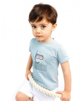 Camiseta Bebé Niño TARTINE ET CHOCOLAT Azul Buzo