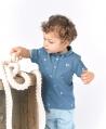 Polo Bebé Niño TARTINE ET CHOCOLAT Piqué Azul Estampado