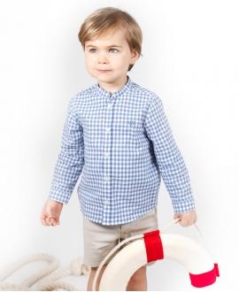 Camisa Bebé Niño TARTINE ET CHOCOLAT Cuadros Azul