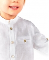 Camisa Bebé Niño TARTINE ET CHOCOLAT Lino Blanca