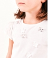 Camiseta Niña TARTINE ET CHOCOLAT Crudo Mariposas