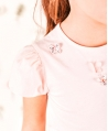 Camiseta Niña TARTINE ET CHOCOLAT Nude Mariposas
