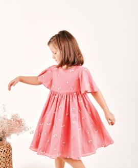 Vestido Niña TARTINE ET CHOCOLAT Voile Rosa Magnolia