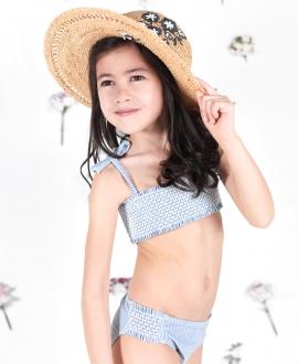 Bikini Niña TARTINE ET CHOCOLAT Azul Rayas