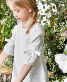 Vestido Niña TARTINE ET CHOCOLAT Blanco Elegante