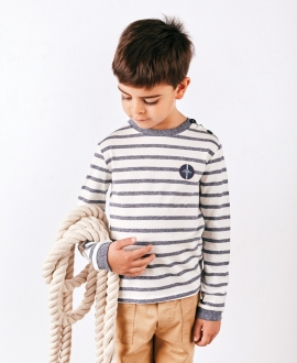 Camiseta Niño TARTINE ET CHOCOLAT Azul Rayas