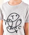 Camiseta Niño TARTINE ET CHOCOLAT Gris Peces Bordados